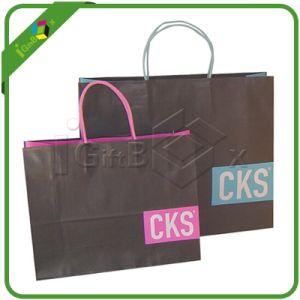Custom Kraft Paper Shopping Bag pictures & photos
