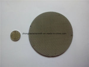 200 Mesh, 0.05 mm Wire, Ss304 Filter Disc Screen, Extruder Filter Screen, Filter Pack pictures & photos