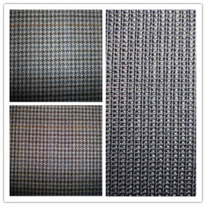 Wool Mulberry Silk Blenched Fabric pictures & photos