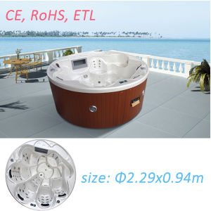 Round Whirlpool Bathtub Hot Tub SPA Massage Bathtub pictures & photos