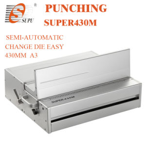 Semi-Automatic Paper Punching Machine with Interchangeable Die (SUPER430M) pictures & photos