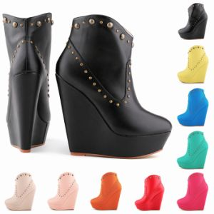 Women Shoes Ankle Boots Wedge Lady Winter Platform