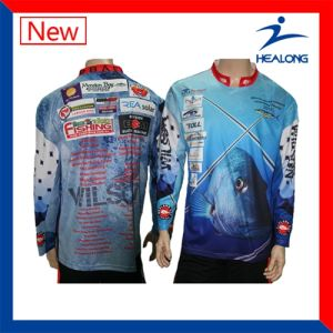 Promotion Fully Sublimated Fishing Shirt with UV-Protection pictures & photos