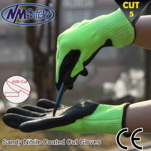 Nmsafety Soft Nitrile Coated Cut Protective Safety Work Glove pictures & photos