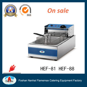 1-Tank 1-Basket Electric Chip Fryer with Oil Tank (HEF-81)