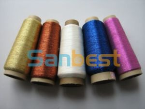 Different Colors Metallic Embroidery Thread with Polyester Core Yarn pictures & photos