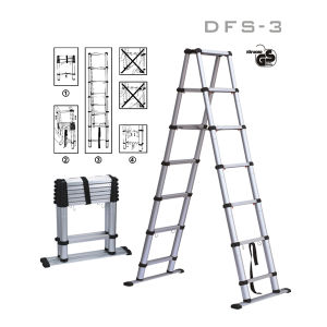 Dff-3 Aluminium Telesteps GS Ladder pictures & photos
