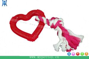 TPR Heart with Rope Dog Toy Pet Product pictures & photos