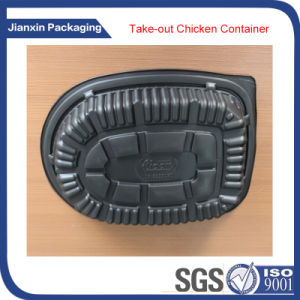 Disposable Plastic Chicken Food Tray with Lid pictures & photos