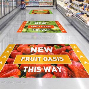 Full Color Digital Printing Advertising Vinyl Self-Adhesive Floor Sticker pictures & photos