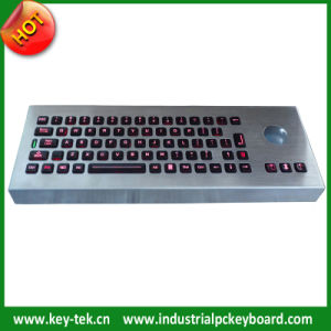 IP65 Vandal Proof Backlight Keyboards with Trackball (K-TEK-M380-TB-DT)
