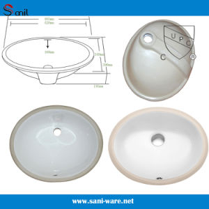 Bathroom Face Sink Waterproof China Cupc Ceramic Wash Basin (SN005) pictures & photos