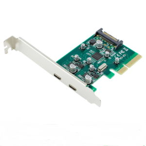 PCI-E to USB 3.1 Type C 2 Port Express Card pictures & photos