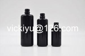 30ml, 50ml 100ml High Quality Black Glass Lotion Bottles, Serum Glass Bottles with Pump/Dropper