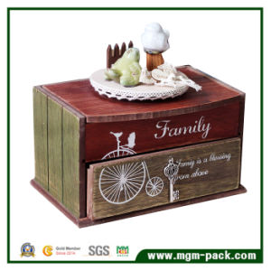 House Design Wooden Music Box with Ceramic Bird pictures & photos