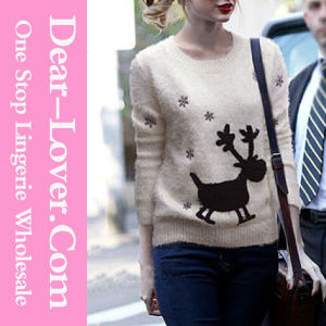Ladies Fashion Acrylic Knitted Sweater pictures & photos