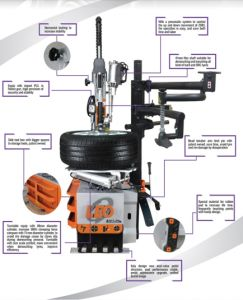 Product Name: Free Hypsokinesis Pry Bar Sliding Arm Tyre Dismounting Machine pictures & photos