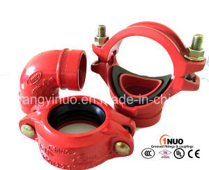 "High Quality Ductile Irongrooved Mechanical Tee (FM/UL) 139.7*3"" pictures & photos"