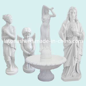 Modern Western Figure Statue, White Angel Marble Carved Art Sculptures pictures & photos