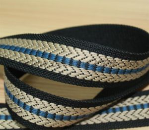 High Quality Spun Polyester Jacquard Webbing Strap#1501-31A pictures & photos