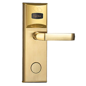 Stainless Steel Golden Electronic Card Lock with Mortise pictures & photos