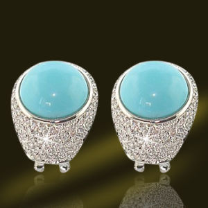 Hot Selling Turquoise Gold Jhumka Earring