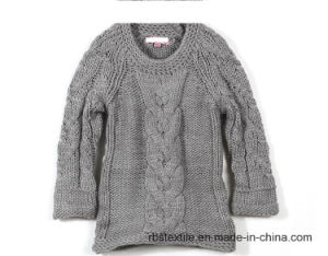 Girls Chunky Cable Knitted Jumper Sweater pictures & photos