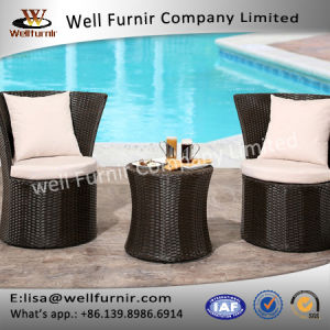 Well Furnir T-037 Living Clint Wicker 3 Piece Patio Resin Bistro Set pictures & photos