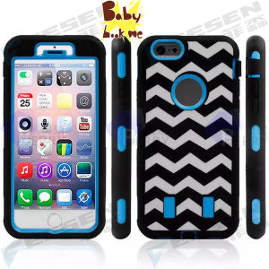 Wave Design Robot Case for iPhone6, 2 Layers for iPhone 6 Case, There Are Another 3 Different Kinds Designs.