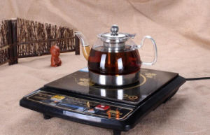 Glass Body Stainless Bottom Tea Kettle Coffee Pot pictures & photos