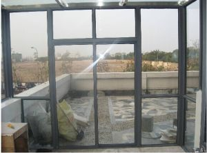 Aluminium Top Fixed Balcony Sliding Door pictures & photos