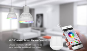 WiFi Controlled LED MR16 4W RGB+CCT Bulb pictures & photos