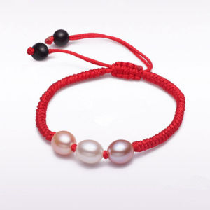 Red Thread with Cultured Freshwater Pearl Bracelet, Fashion pictures & photos