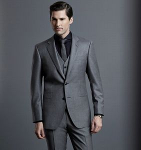 Top Quality Two Buttons Slim Fit Man′s Suit pictures & photos