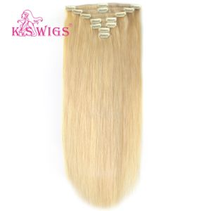 Clip Hair Extension with Firm Lace Human Hair Weft pictures & photos