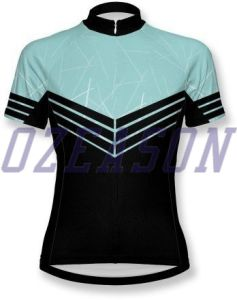 Cheap Wholesale Sublimated Team Sky Short Sleeve Men′s Cycling Jersey pictures & photos