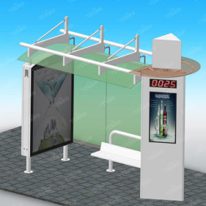 Smart City Digital Bus Stop Shelter with Advertising Touch LCD Screen pictures & photos