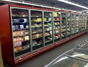 Large Capacity Commercial Refrigerator Showcase 5 Glass Door pictures & photos