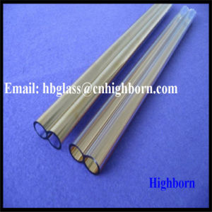 Manufacturer Double Hole Gold Plating Fused Silica Quartz Tube pictures & photos
