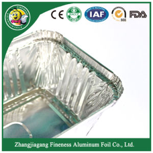 Food Grade and Packaging Aluminum Foil Container with Lid pictures & photos