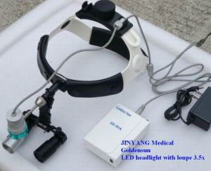 3.5X Magnification Surgical Dental Loupes with LED Headlight pictures & photos