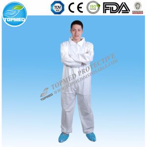 Disposable PP Coverall with Hood Topmed Brand pictures & photos