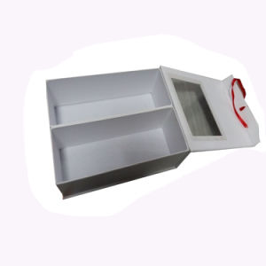 White Cardboard Paper Gift Box with PVC Window pictures & photos