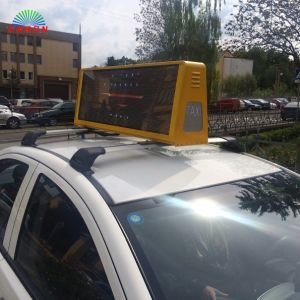 Double Sides P5 Taxi Top Advertising LED Display with Wirelss Control (4G, 3G, WiFi, USB) pictures & photos