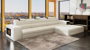Modern furniture U Shape LED Leather Sofa for Home Living Room (HC1054) pictures & photos