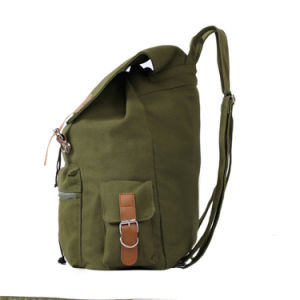 College Student Casual Rucksack Canvas School Backpack pictures & photos