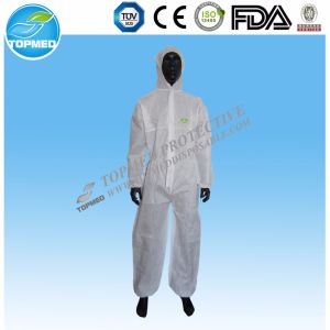 Disposable Nonwoven Coverall with Collar pictures & photos