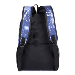 Fashion Wholesale Lightning Polyester Women Backpack Travel School Bag pictures & photos