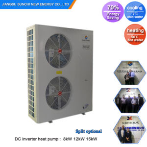 Amb. -25c Cold Winter Floor Heating 100~300sq Meter Room 12kw/19kw Evi Air Source Heat Pump Low Temperature Split with Inventor pictures & photos