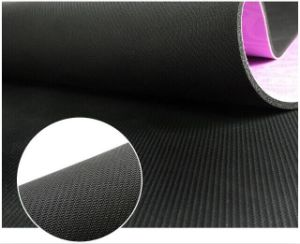 Customized Image and Logo Printed Natural Rubber Microfiber Suede Yoga Mat pictures & photos